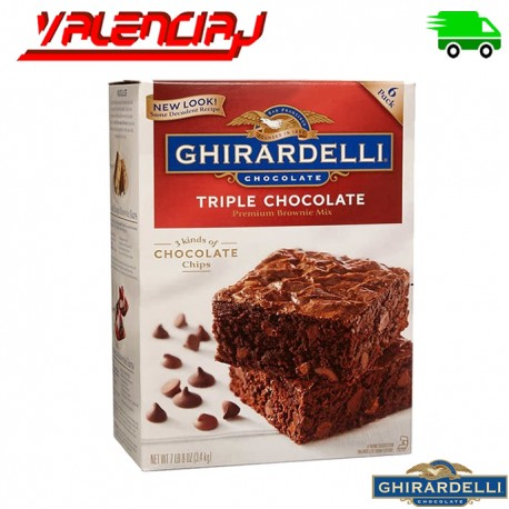 MEZCLA PARA PREPARAR BROWNIES GHIRALDELLI 3.4 KILOS TRIPLE CHOCOLATE