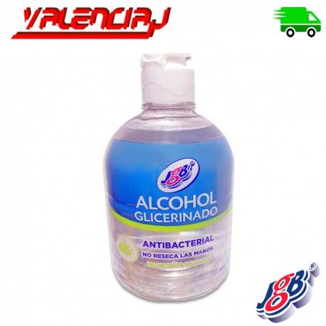 ALCOHOL GLICERINADO JGB 500ML x 1 UND NO RESECA LAS MANOS NO REQUIERE ENJUAGUE
