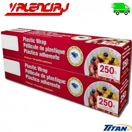 PLASTICO FILM TRANSPARENTE ROLLO DE 79 METROS X 29 CMS x 2 Und TITAN/MEMBERS