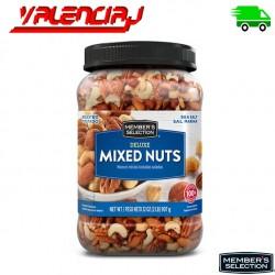 MIXED NUTS MIXTO DE NUECES CON SAL MEMBERS SELECTION  907 GRS FRUTOS SECOS