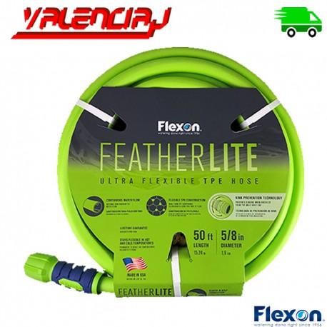 MANGUERA FLEXON FEATHER LITE 15.25 MTS 5/8 IN VERDE ULTRAFLEXIBLE