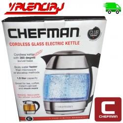 TETERA CON INFUSOR ELECTRICA PORTATIL RECARGABLE CHEFMAN 1.8 L