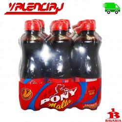 PACK PONY MALTA BEBIDA NUTRITIVA 330ML X 24 BOTELLAS