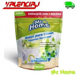 BOLSAS PARA CLOSET ABSORVENTES DE HUMEDAD M. HOME  420G X 5 Und