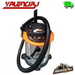 ASPIRADORA ARMORALL 4 GALONES 2.5HP CON PICOS DE 3HP PARA HUMEDO Y SECO 110V
