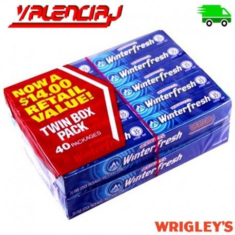 GOMA DE MASCAR WRIGLEY'S WINTERFRESH 40 X 13.5 GRAMOS
