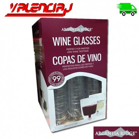 99 COPAS DE VINO ARGENTIA RIDGE 7OZ TRANSPARENTES DESECHABLES