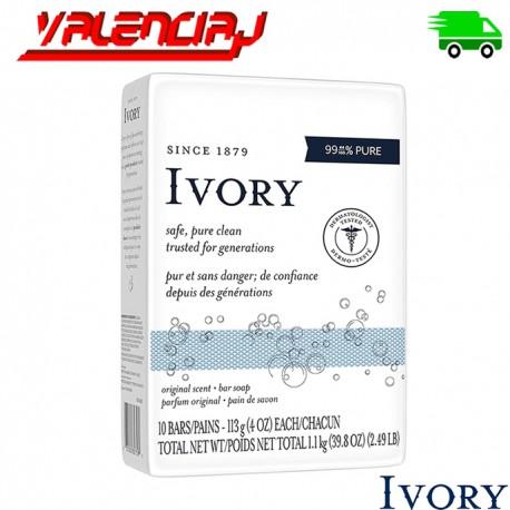 JABON IVORY FLOTANTE 3.17OX X 10 UND FLOTANTE   99.9% PURO