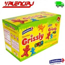 COLOMBINA GOMITAS GRISSLY SOUR ACIDAS 72 G X 12 UND