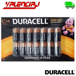 PILAS C 14 DURACELL COPPERTOP ALCALINAS PACK 14 UNIDADES