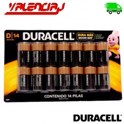 PILAS D 14 DURACELL COPPERTOP ALCALINAS PACK 14 UNIDADES