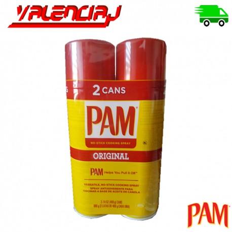 ACEITE VEGETAL CANOLA PAM 2 X 400 GRS