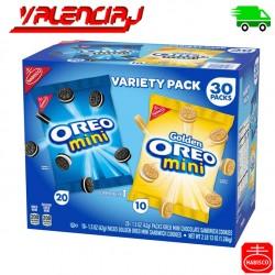 GALLETAS OREO MINI 30 PAQUETES VARIATY PACK