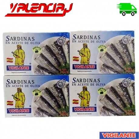 SARDINAS EN TOMATE PICANTE VIGILANTE 120G X 4 UNIDADES