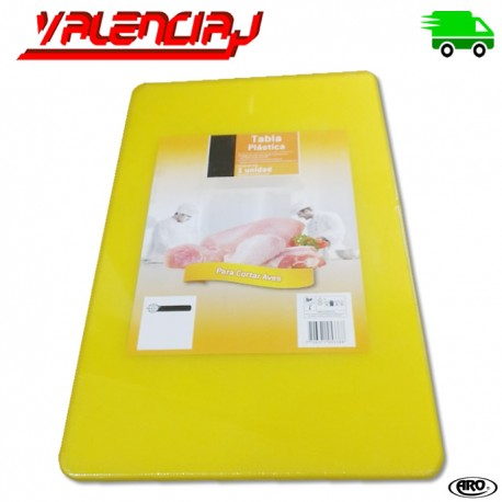 TABLA PARA CORTAR AVES 50 x 30 x 1.4 CMS AMARILLA EN CO-POLIMERO