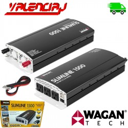 INVERSOR DE VOLTAJE WAGAN SLIMLINE 1500W 12V - Salida 120V PUERTO USB