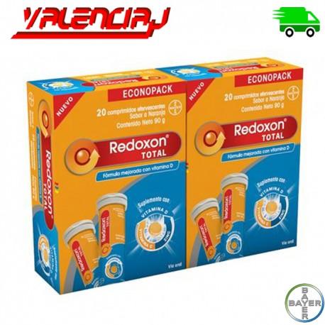 COMPLEMENTO VITAMINICO REDOXON TOTAL VITAMINA C D y Zink 4 FRASCOS CON 40 CAPSULAS EFERVESCENTES EN TOTAL
