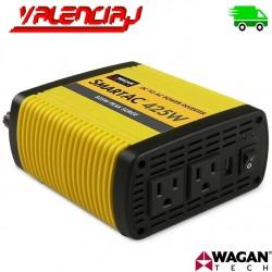INVERSOR DE VOLTAJE WAGAN SMARTAC 425W 12V - Salida 120V PUERTO USB
