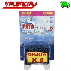 PASTILLAS PARA INODORO PATO TANQUE FRAGANCIA MARINA 40 GRS X 6 UND